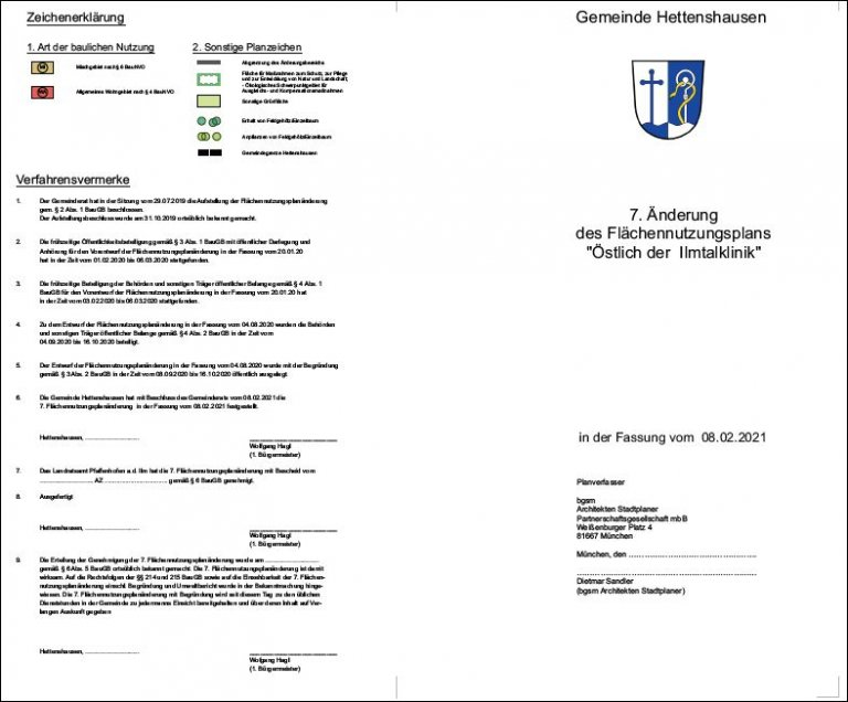 7. Flächennutzungsplan Hettenshausen PlanText
